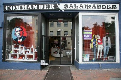 Commander Salamander, punk/new wave store, Georgetown, DC