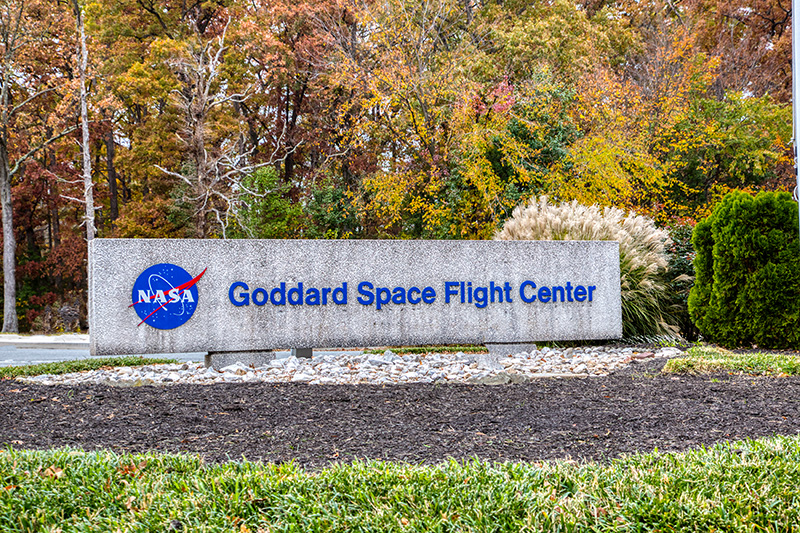 Goddard Space Flight Center entrance sign