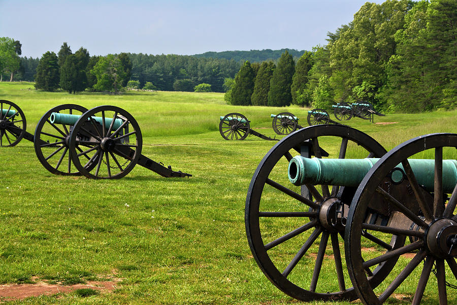 Cannons at Manassas Civil War Battlefield, Manassas, Virgina